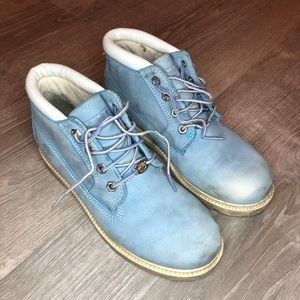 Timberland light blue ankle boots